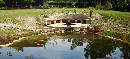 Aqua Landscape Design - providing pond design, water garden design, natural swimming ponds, pond landscaping and commercial water features